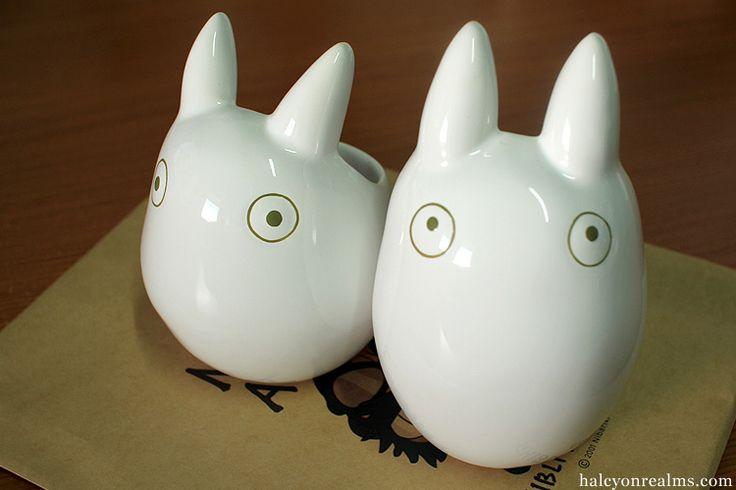 White Totoros Planters from Mamma Aiuto ! Ghibli Museum Store
