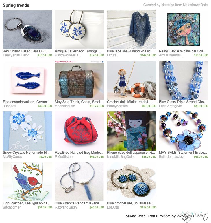Our Red/Blue Handled Bag in this lovely treasury by Natasha <3 Thank you so much!!! https://www.etsy.com/treasury/NDc4MjIwOTh8MjcyNzQ1MTgwMA/spring-trends