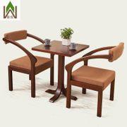 Западные кафе столы и стулья сочетание чай десерт торт закуска минималистский деревянный диван и стулья, чтобы обсудить идеи