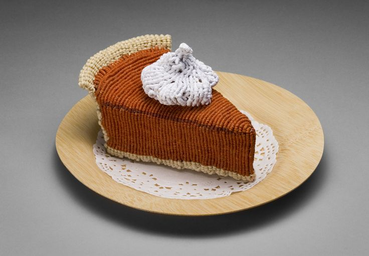 Delectable : ed bing leeFood Sculpture, Soft Sculpture, Funny Crafts, Bing Lee, Knits Food, Crafts Projects, New Recipe, Food Art, Pumpkin Pies