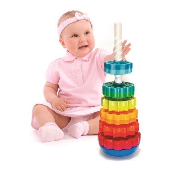 Zakręcona wieża SpinAgain od Fat Brain Toys dla dzieci 12 m + #zabawki #zabawkidladzieci #fatbraintoys