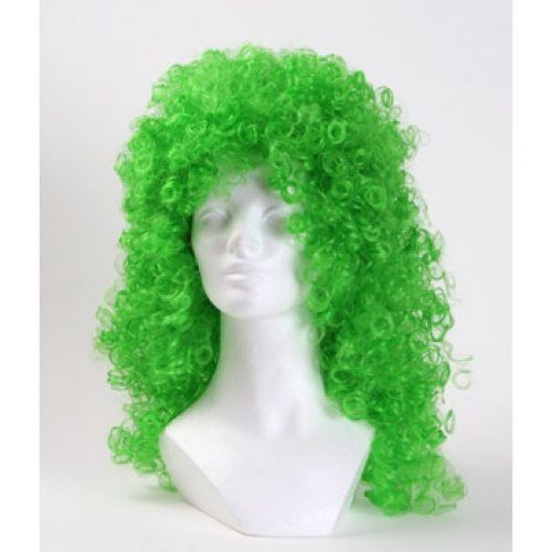 Morris Costumes Disco Curly Clown Wig - Green