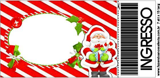 Convite Ingresso Natal Vermelho e Verde