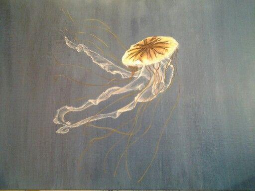 Medusa chrysopea - acrilico su tela