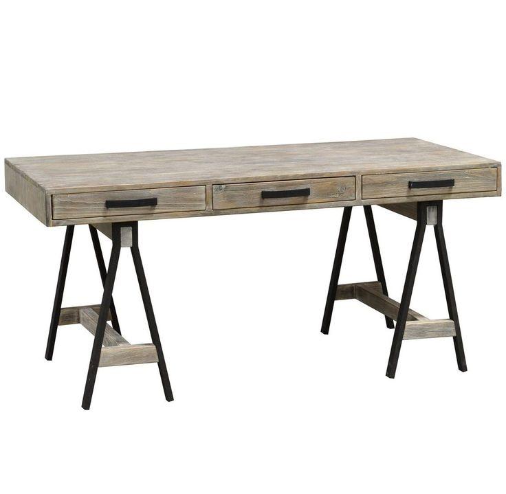 Juliana Sawhorse Reclaimed Wood Desk   Zin Home #homefurniture