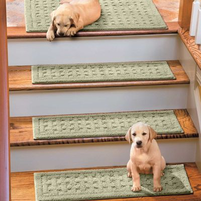 Weave Washable Stair Treads; ugly but practical; so I don't kill myself walking down the stairs while holding small child!