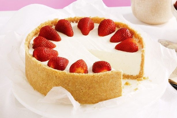 Entertain with ease using this classic no-bake vanilla cheesecake. It will be the star of the show.