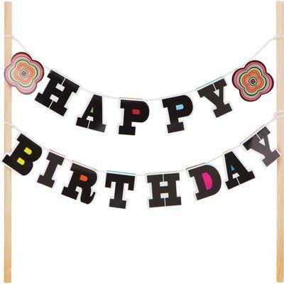 Creative Converting Happy Birthday Cake Topper
