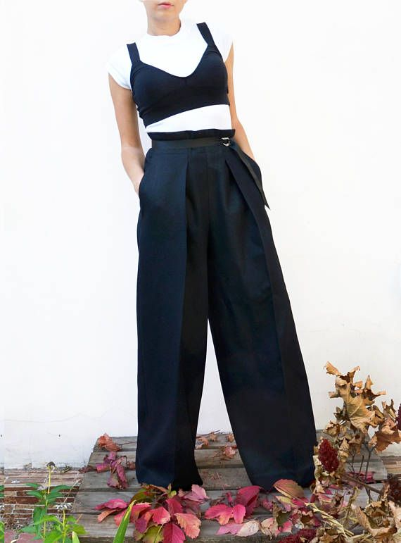 Palazzo Pants Wide Leg Pants High Waisted Pants Plus Size