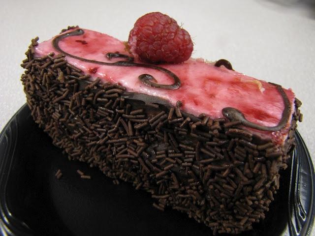 ... I eat Gourmandise Chocolate Raspberry Mouse CAKE!