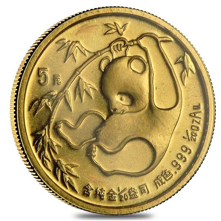 China 1/20 oz Gold Panda Proof/Unc (Random Year, Abrasions)