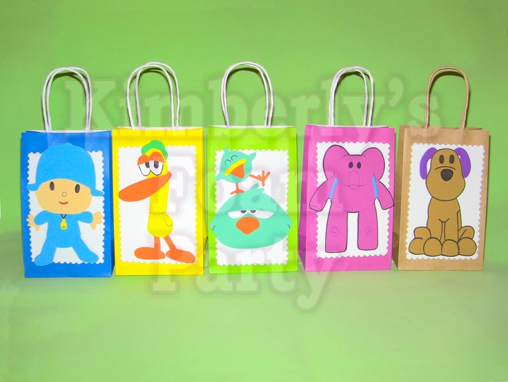 Pocoyo and friends party bags. | Etsy