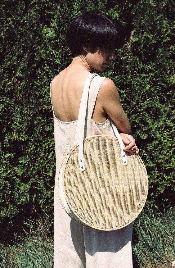 Round straw purse | Rachel Comey Aleso Bag | Girlfriend is Better