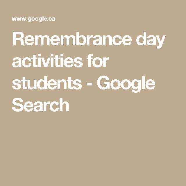 Remembrance day activities for students - Google Search