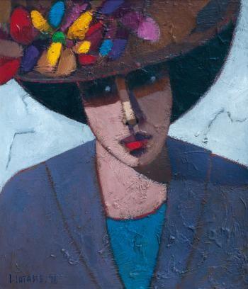 Carlos Catasse (1944–2010) - Santiago, Chile) - Dama con sombrero, 1998