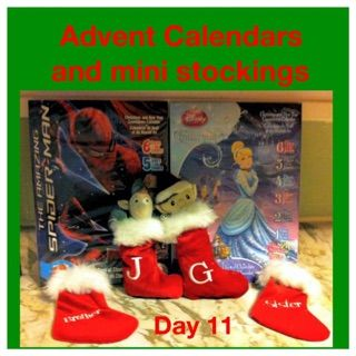 Elf on the shelf ideas advent calendars and mini stockings brother sister J G initial