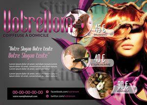 Création de Flyers pour Coiffeur Coiffeuse et Salon de coiffure  http://www.sitinternet.fr/creation-de-flyers-design-coiffeuse