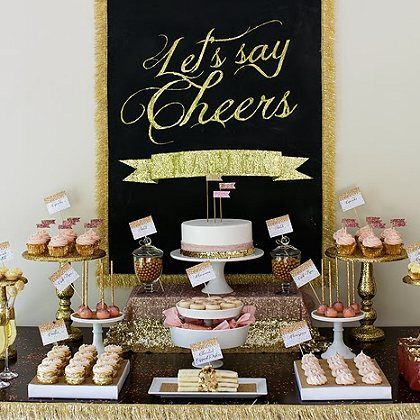 A Perfect New Year's Eve Dessert Table