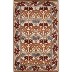 Hand-tufted Ivory/Orange Novelty Caparo Street New Zealand Wool Rug (5' x 8') - Overstock™ Shopping - Great Deals on Surya 5x8 - 6x9 Rugs
