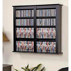 Dvd Wall Storage - add cupboard doors and presto!
