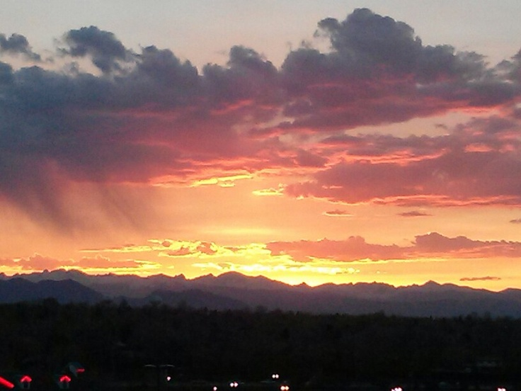 I love our Colorado sunsets