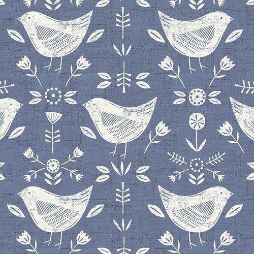 Fryetts Narvik Birds 100/% Cotton Fabric Curtain Upholstery Roman Blind Cushion