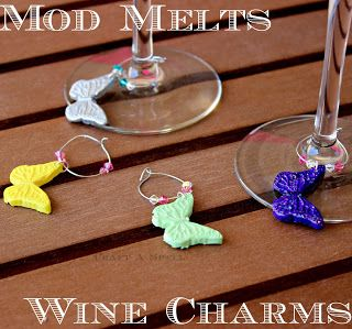 Craft A Spell: Mod Melts Wine Charms - so cute! #modpodgerocks