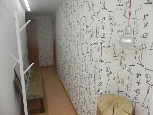 El papel pintado de mariscall perfecto para el pasillo y entrada.