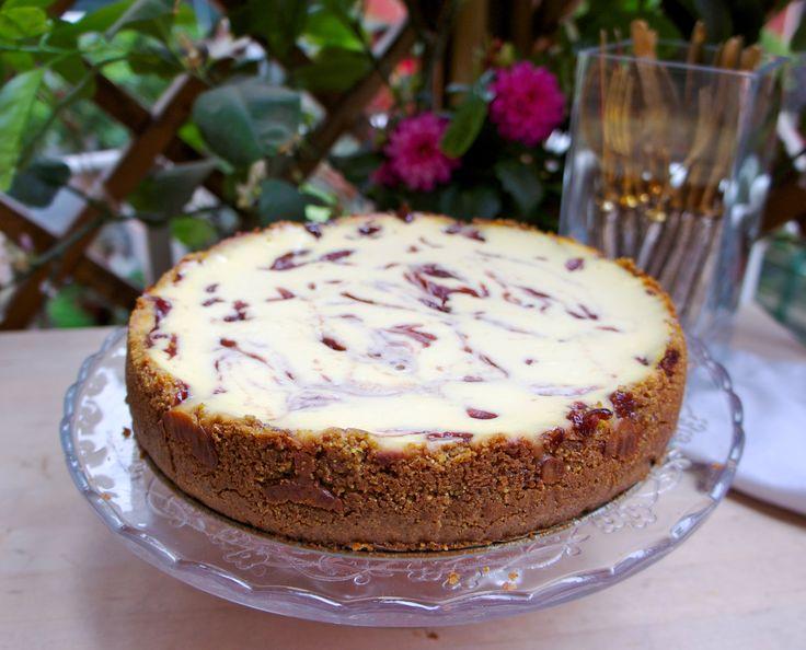 ricotta cheesecake e fragole