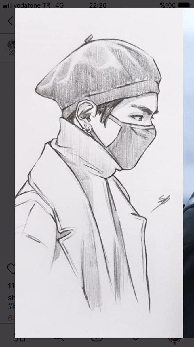 Pin By Samsultananur On Drawings In 2020 Bts Drawings Kpop Drawings Drawings