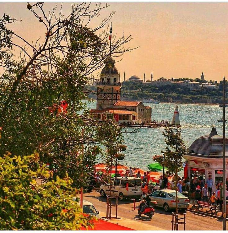 Istanbul Turkey , kiz kulesi , Maiden Tower