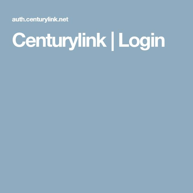 Centurylink   Login