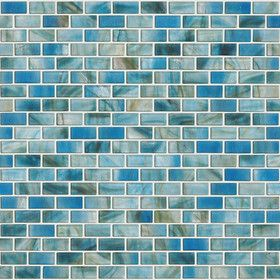 """Glass Expressions 0.25"""" x 1"""" Glass Mosaic Tile in Azure"""