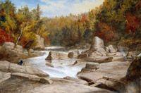 Krieghoff, Cornelius - Les chutes Sainte-Anne, vue en amont - Musée  des beaux-arts du Canada, Ottawa