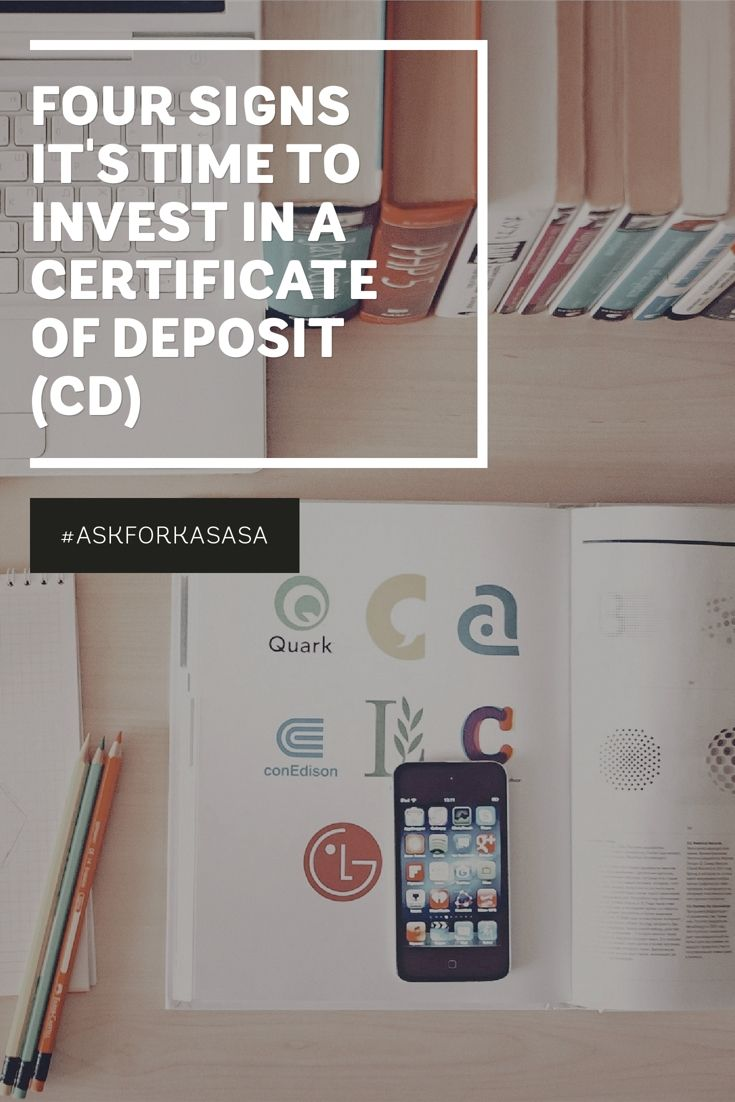 A certificate of deposit (CD) is a low-risk investment vehicle. Basically, you buy a CD for a set amount of time at a set interest rate.  CDs are very secure investments that pay a decent rate. With CDs, you're guaranteed to gain at least something on your initial investment.  So, when should you buy your first CD? How do you know it's time? Click away: http://blog.kasasa.com/2016/04/time-to-invest-in-a-cd/