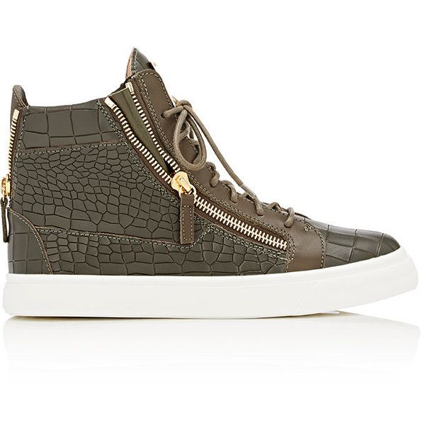 Giuseppe Zanotti Double-Zip High-Top Sneakers (1.655 BRL) ❤ liked on Polyvore featuring men's fashion, men's shoes, men's sneakers, green, crocs mens shoes, giuseppe zanotti mens sneakers, mens leather sneakers, mens leather high top shoes and mens high top sneakers