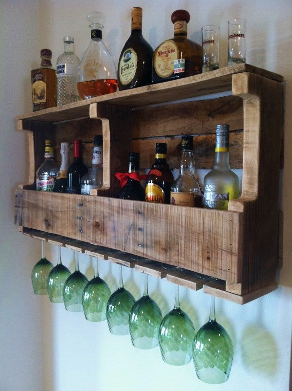 Rustic Wine Rack, Liquor Cabinet Reclaimed Wood Handmade Primitive Barn Wood.