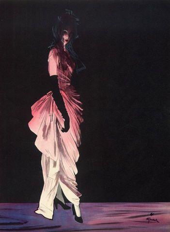Cristóbal Balenciaga (Couture) 1946 René Gruau, Evening Gown