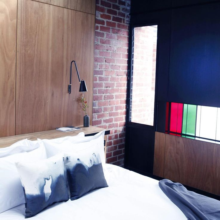 Ink Cushions, Brae Restaurant accommodation suites. Image from @gourmettraveller @julian_kingma