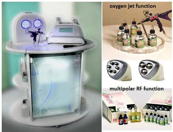 Multi BiOxy Skin beauty radio frequency machine with RF and oxygen: multi-functional beauty equipment