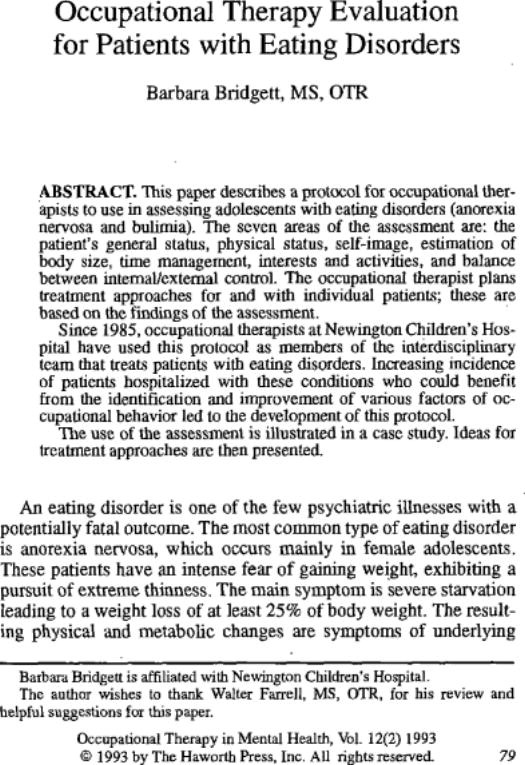 43 best Eating disorders images on Pinterest Addiction recovery - psychological evaluation