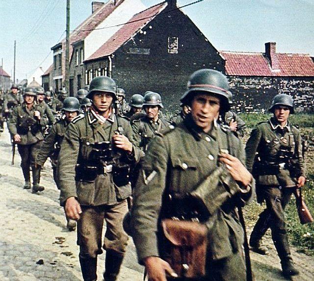 German soldiers in Belgium in 1940.