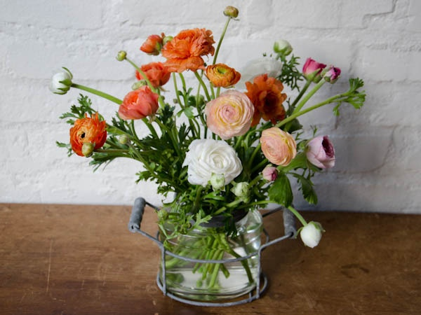 RANUNCULUS. Such a pretty, round flower in such lovely shades of orange and peach.