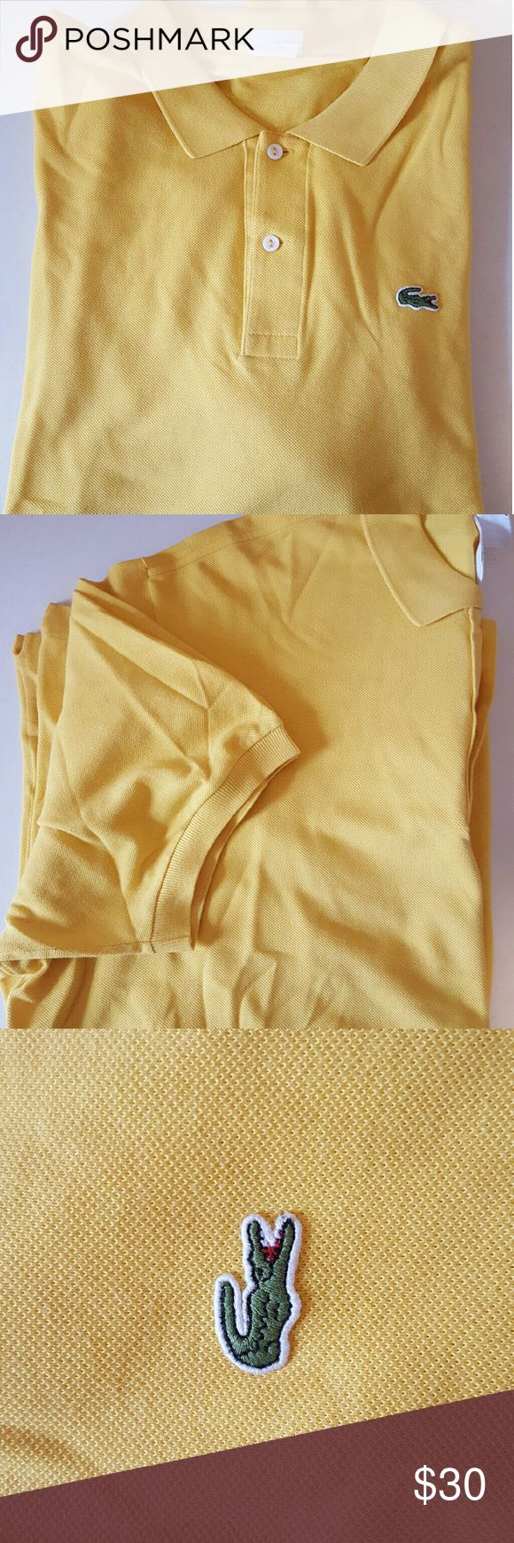 Lacoste Yellow Polo Shirt Lacoste   Very good Lacoste Shirts Polos