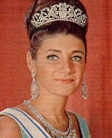 The Princess Shahnaz Pahlavi of Iran (b. 1940). She is the daughter of The Shah Mohammad Reza Pahlavi and his wife, The Princess Fawzia bint Fuad of Egypt. She was the wife (1957-1964) of Ardeshir Zahedi; the wife (from 1971) of  Khosrow Jahanbani.