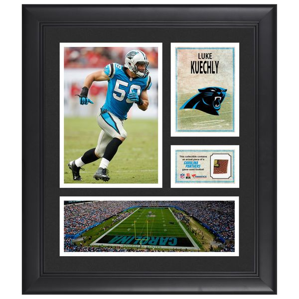 """Luke Kuechly Carolina Panthers Fanatics Authentic Framed 15"""" x 17"""" Collage with Piece of Game-Used Football - $79.99"""
