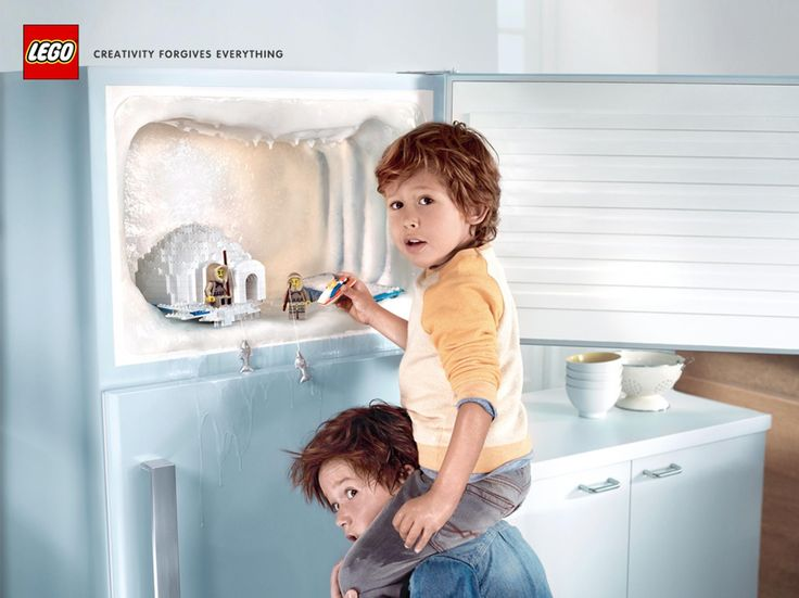 Best Favourite VideoAdsCommercialspubspublicités Images On - Clever print ads from lego show children building their own future
