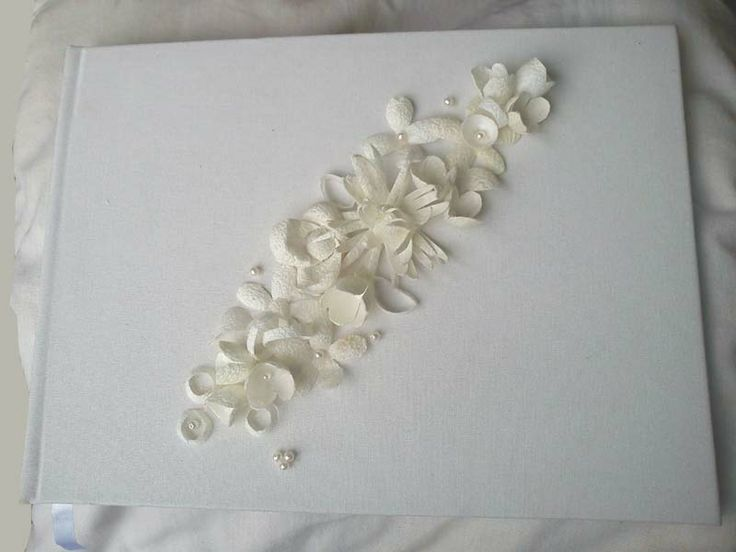 Wedding wishes book handmade from silk cocoons simply particularly fashionable No1