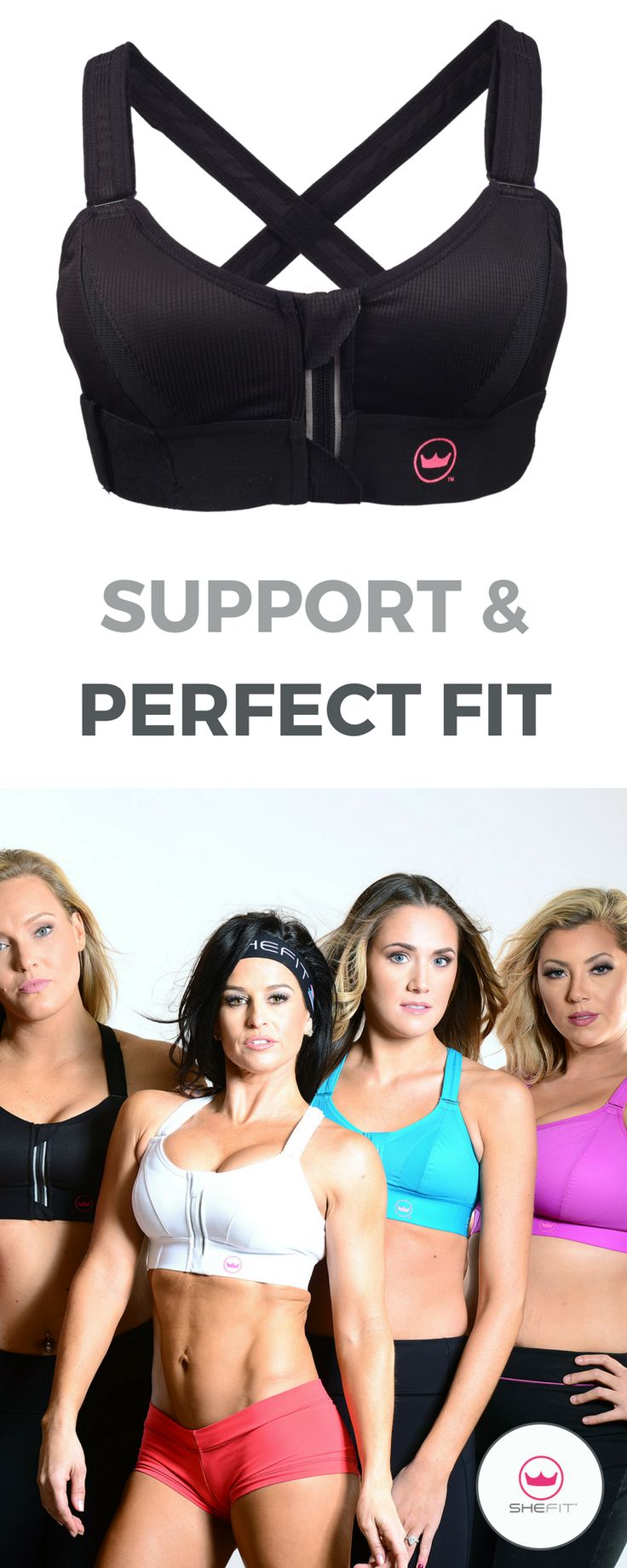 Shefit high impact sports bra is the most unique sports bra on the market for gi…