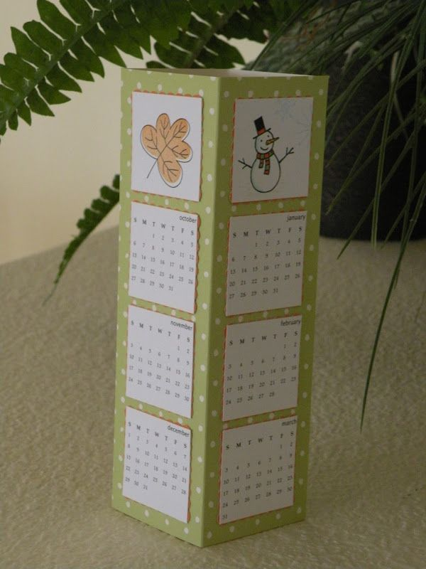 My Paper Paradise ...: Tower Calendar